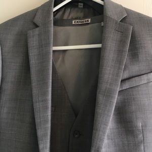 Express Gray 3 piece suit